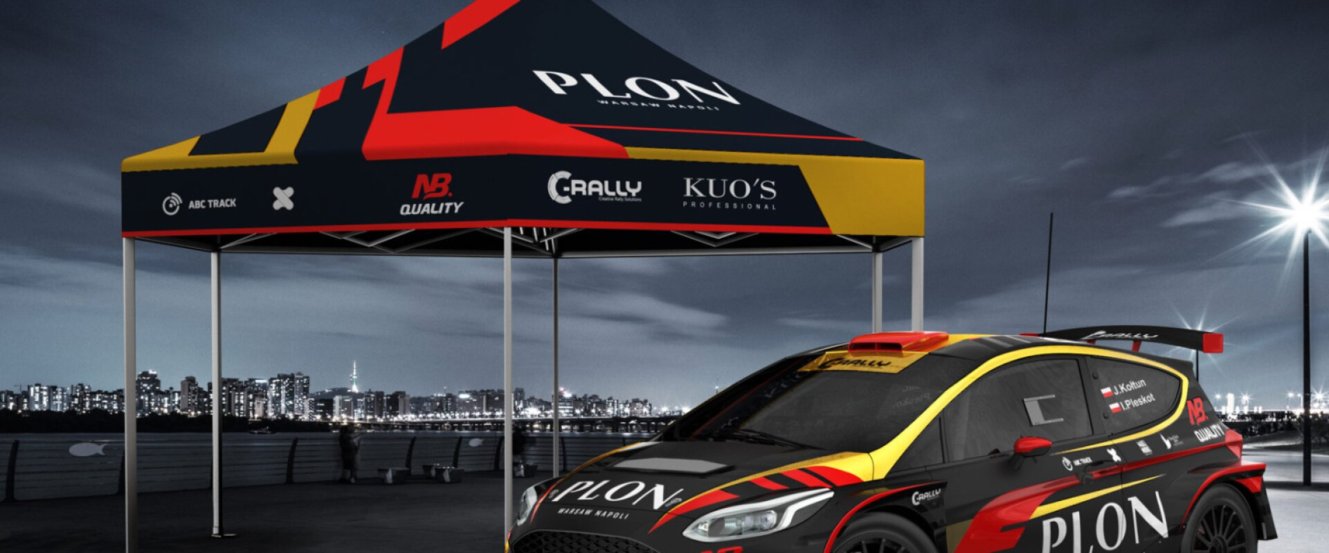motorsport tent in customized design by abstraxi