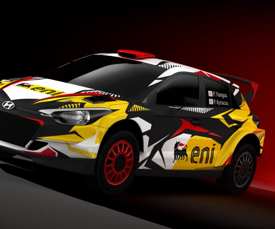 Eni rcing team wrap design